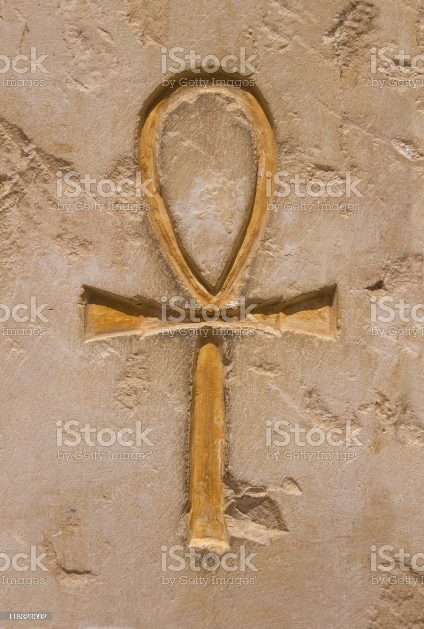 Egyptian hieroglyphic the Ankh (Cross) royalty-free stock photo