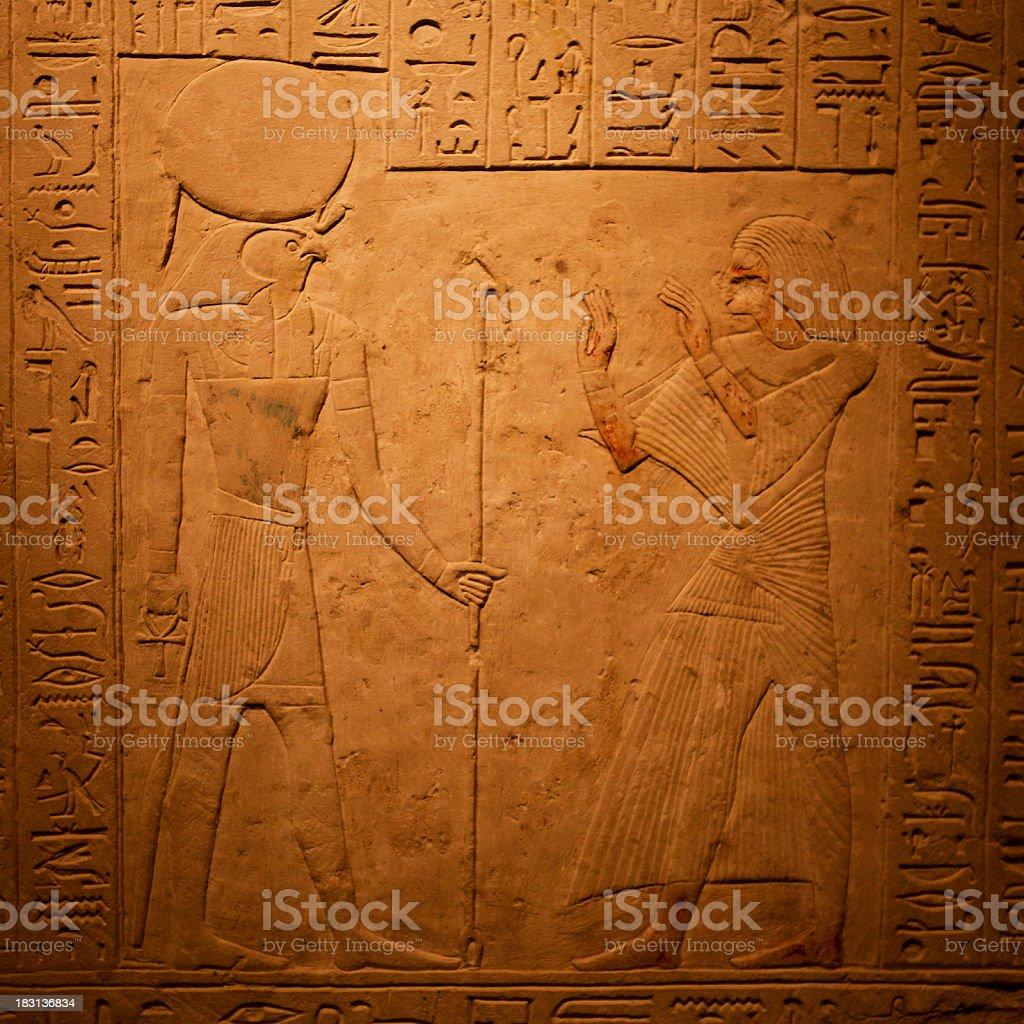 Egyptian Hieroglyphics royalty-free stock photo