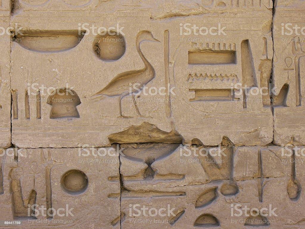Egyptian hieroglyphs in Karnak royalty-free stock photo