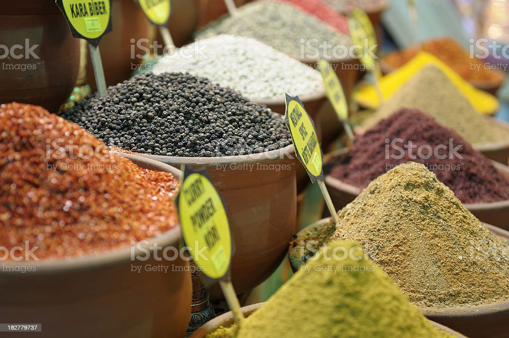 Egyptian Market Spices, Istanbul stock photo