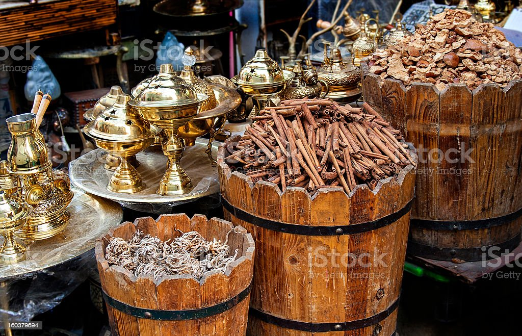 Egyptian market stall royalty-free stock photo
