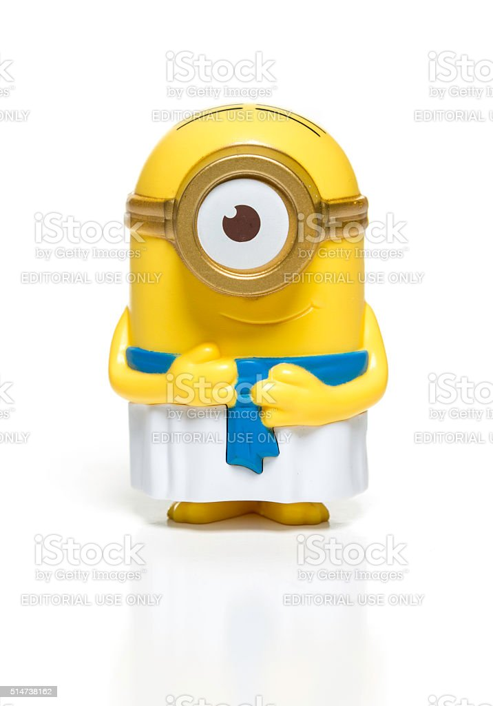 Egyptian Minion McDonalds toy stock photo