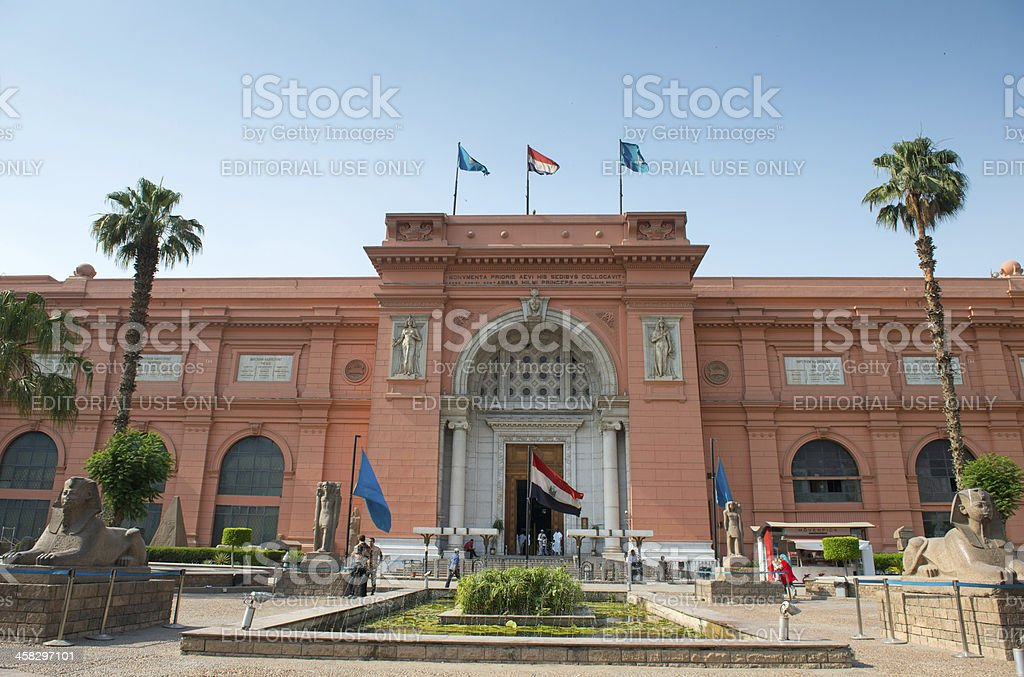 Egyptian Museum in Cairo royalty-free stock photo