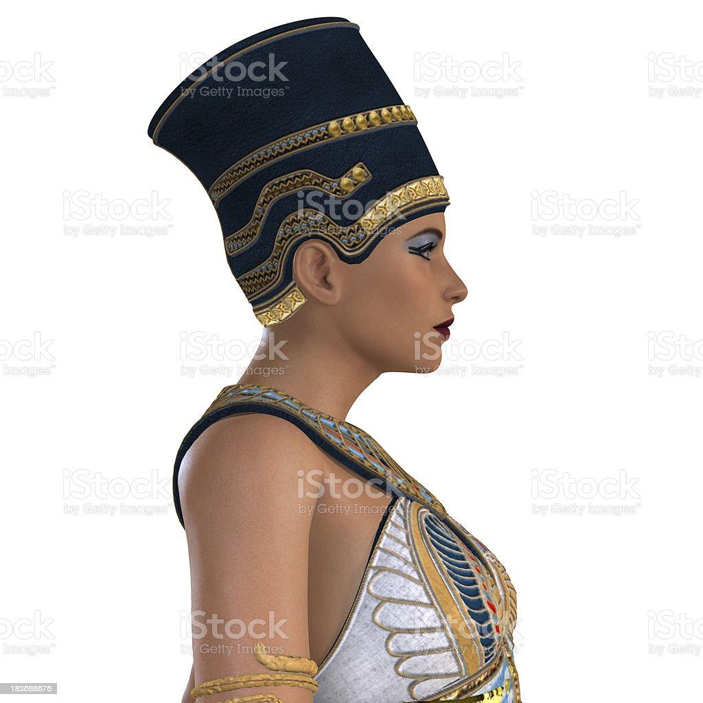Egyptian Nefertiti Face royalty-free stock photo