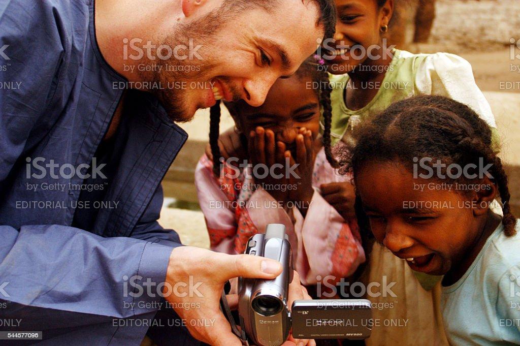 Egyptian Nubian Village Life stock photo