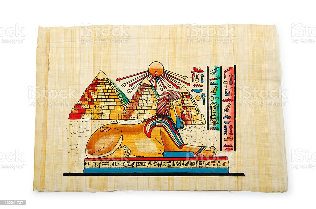 Egyptian papyrus as a background royalty-free stock photo