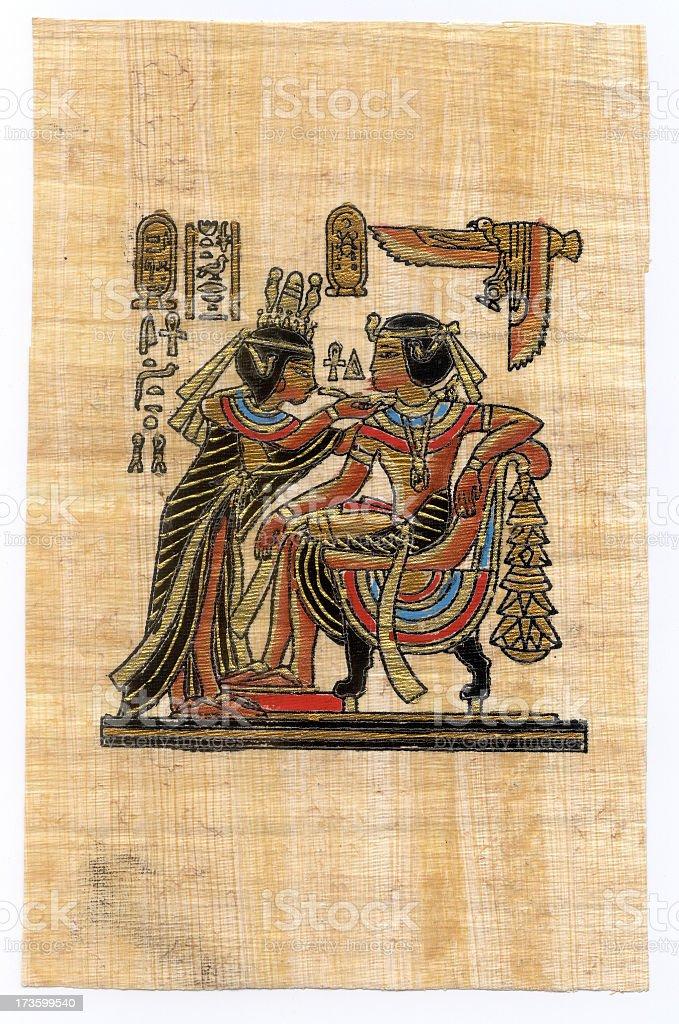 Egyptian papyrus royalty-free stock photo