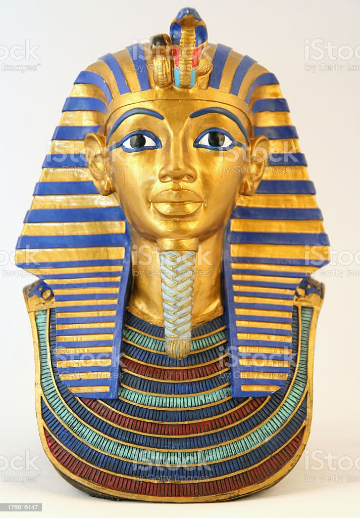 Egyptian pharaoh miniature statue stock photo