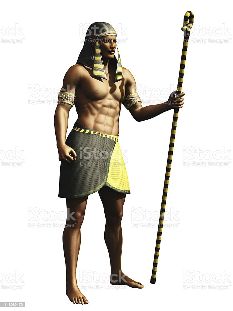 Egyptian pharaoh stock photo