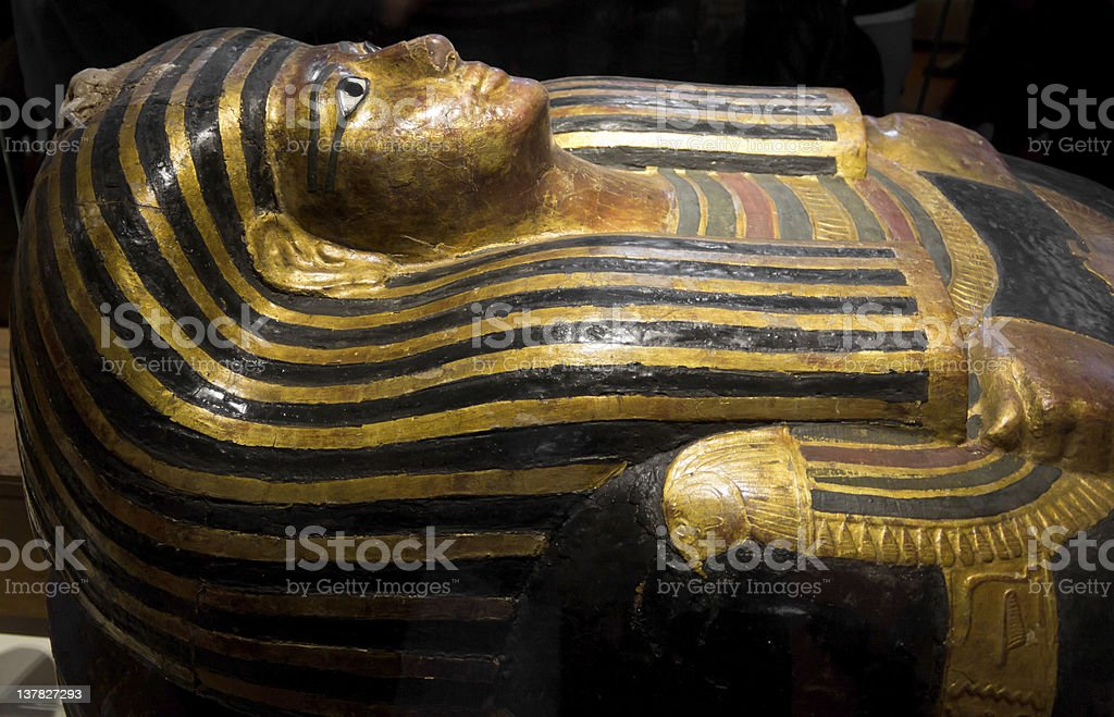 egyptian pharaoh sarcophagus stock photo
