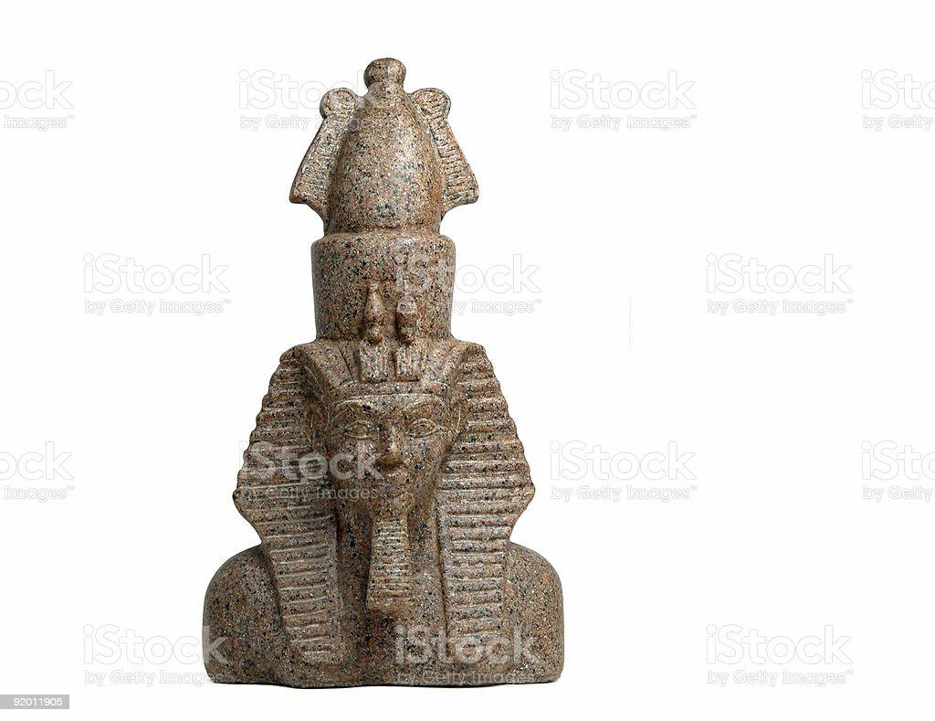 Egyptian Pharaoh statue royalty-free stock photo