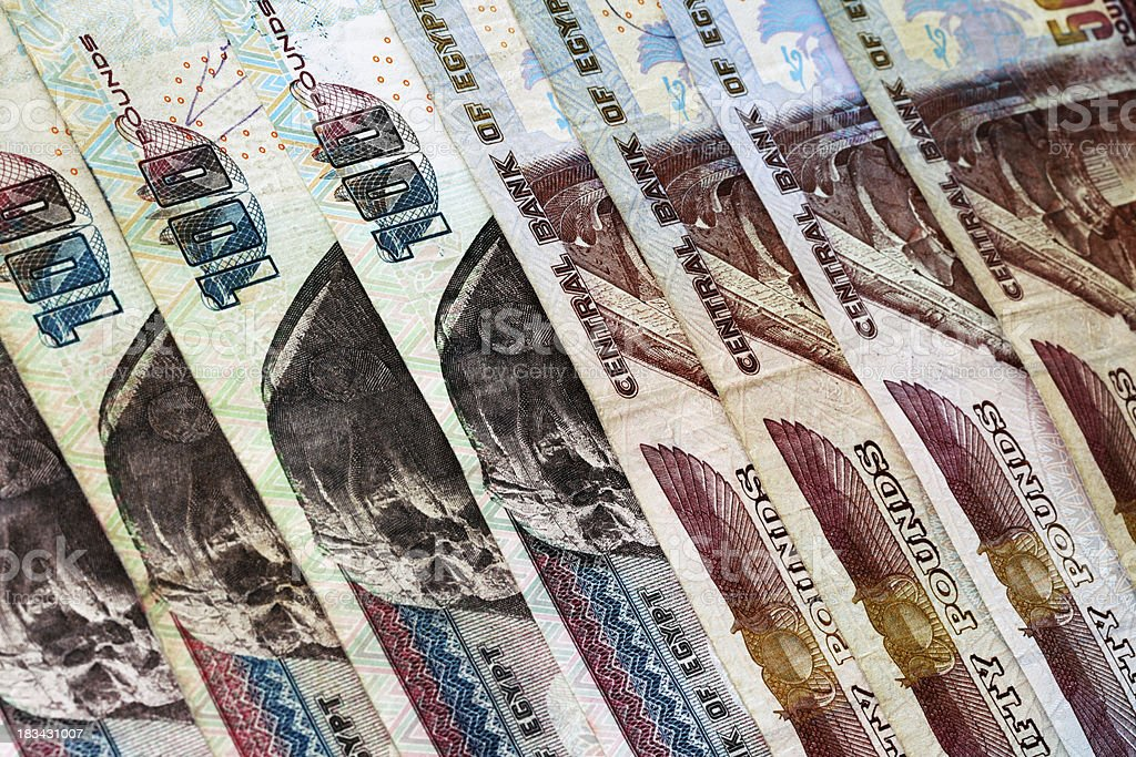 Egyptian Pounds Background stock photo