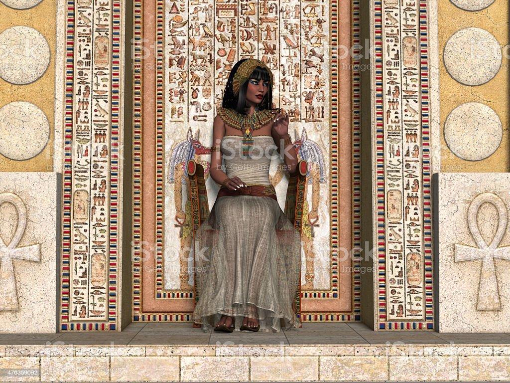 Egyptian Princess Throne stock photo