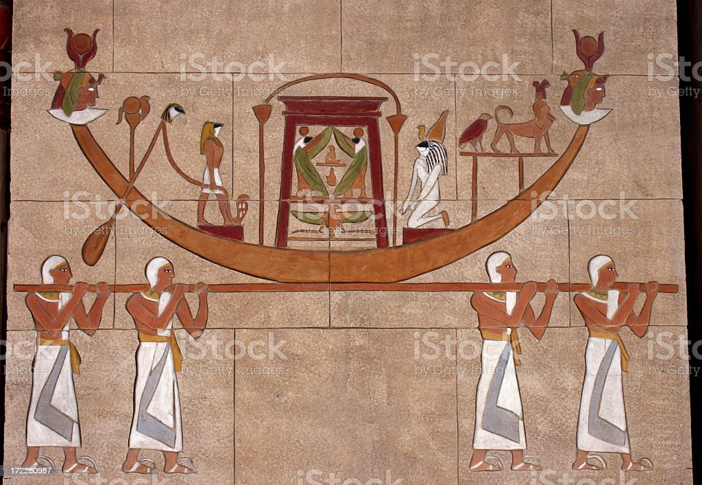 egyptian procession royalty-free stock photo
