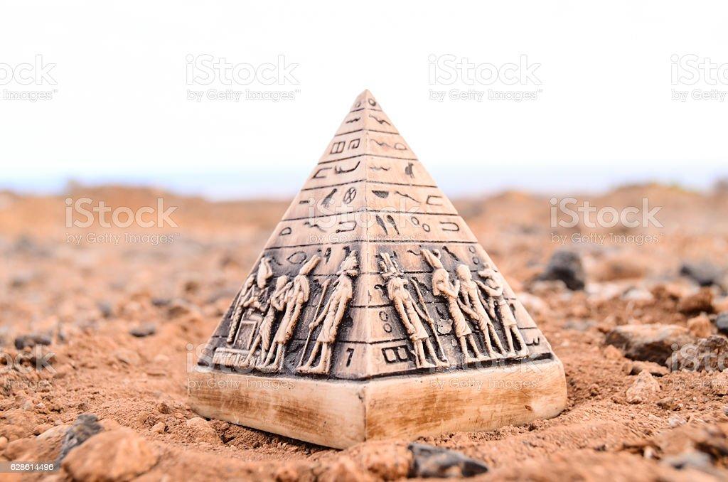 Egyptian Pyramid Model Miniature stock photo