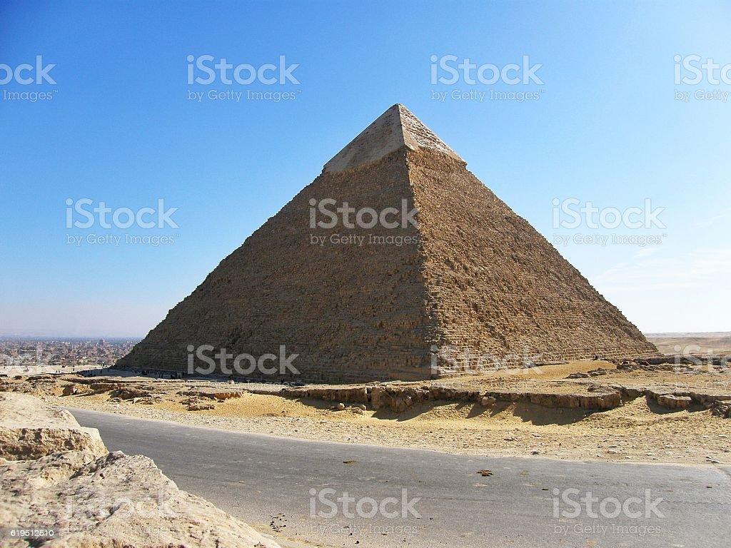 Egyptian Pyramids of Giza stock photo