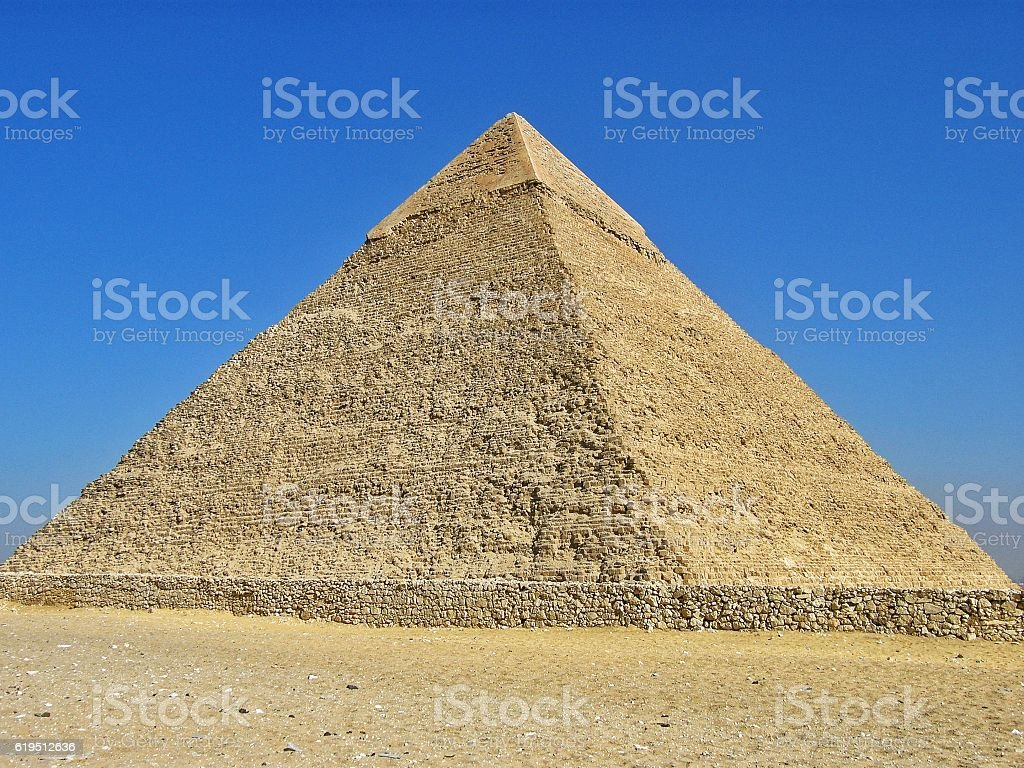 Egyptian Pyramids of Giza stock photo