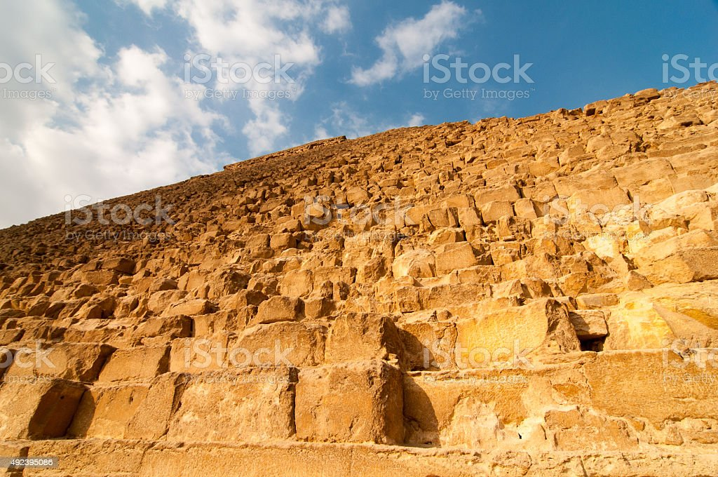 Egyptian Pyramids of the Giza Plateau, Cairo stock photo