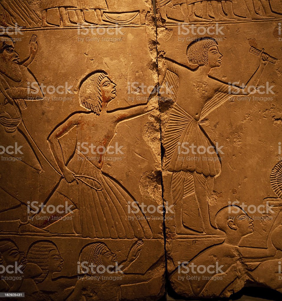 Egyptian Relief stock photo