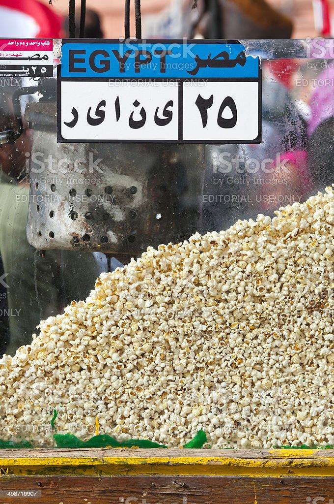 Egyptian revolution sticker stock photo