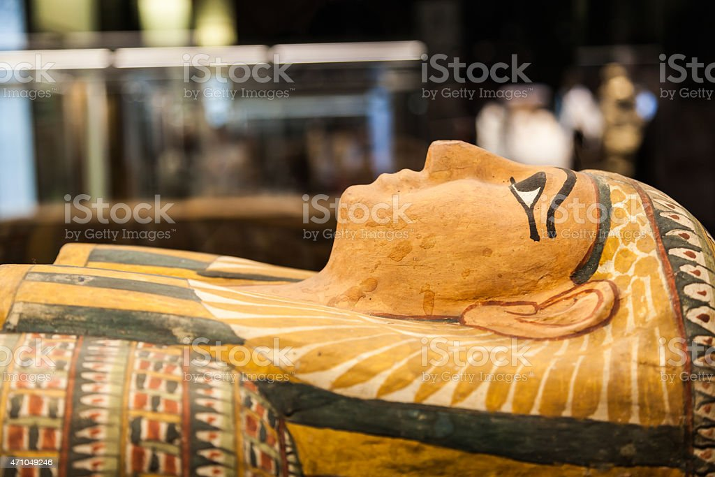 Egyptian sarcophagus stock photo