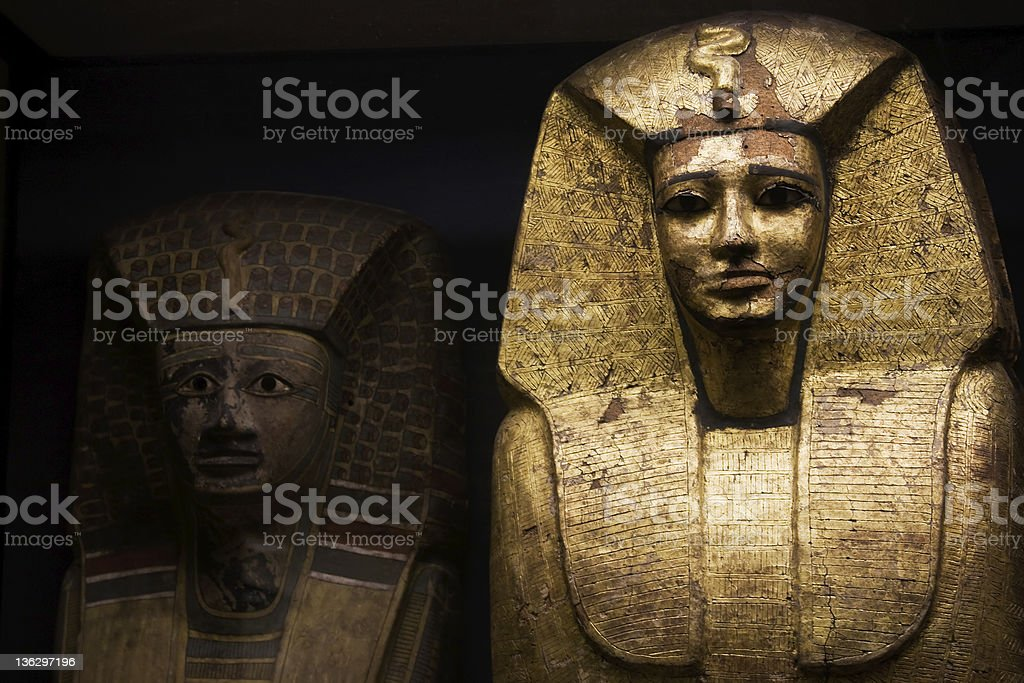 Egyptian sarcophagus used for ancient pharaohs stock photo