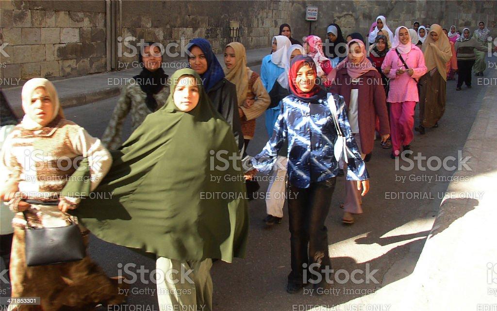 Egyptian schoolgirls royalty-free stock photo
