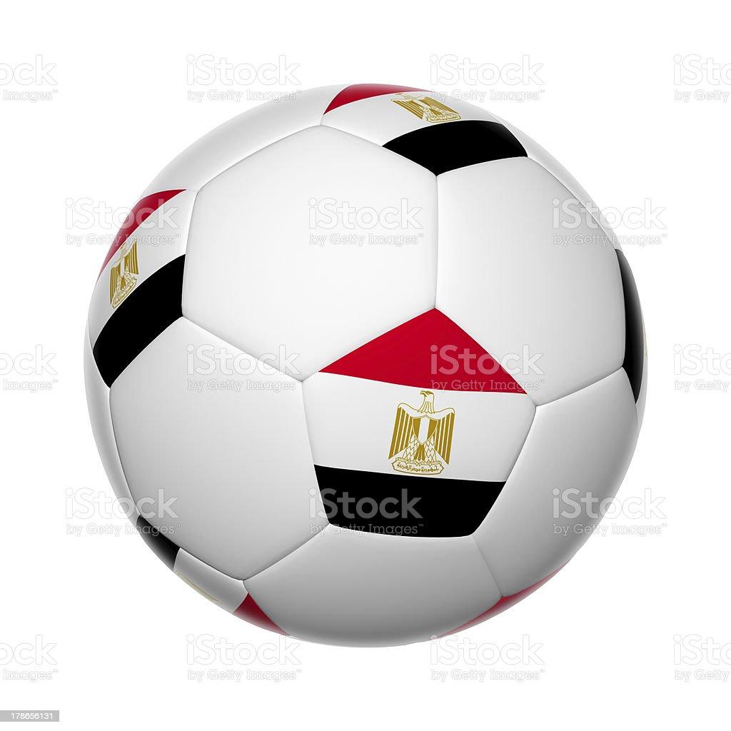 Egyptian soccer ball royalty-free stock photo