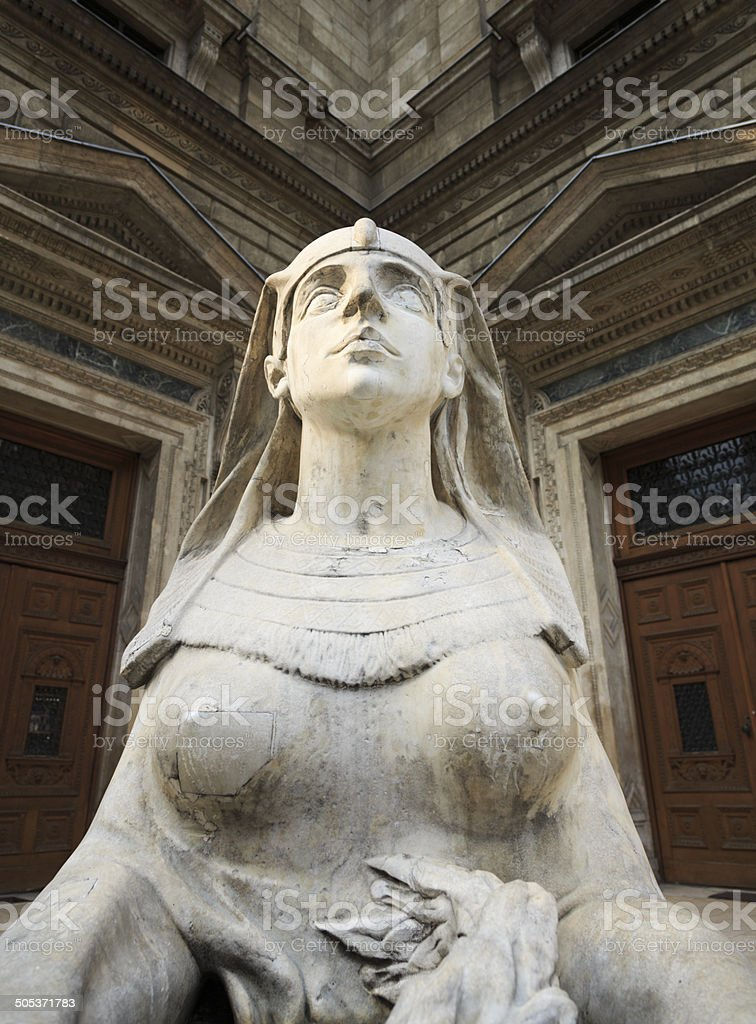 Egyptian style statue  in Budapest royalty-free stock photo