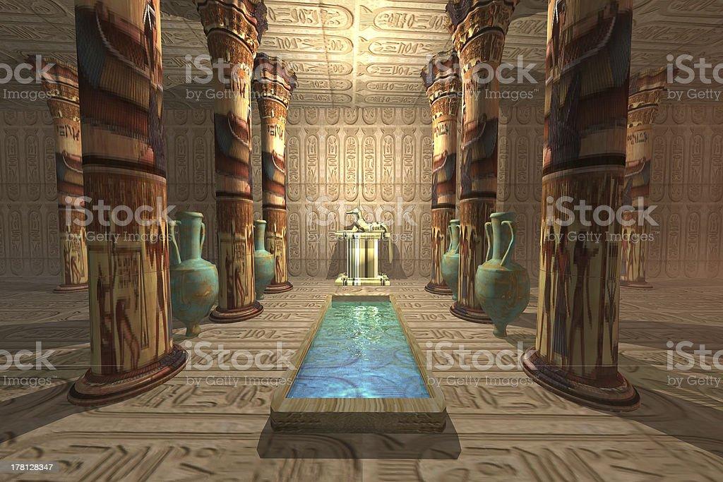 Egyptian Temple stock photo