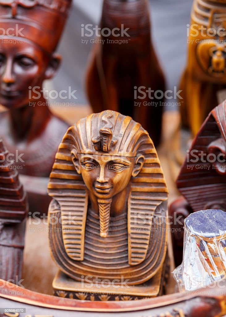 Egyptian traditional culture souvenirs. stock photo