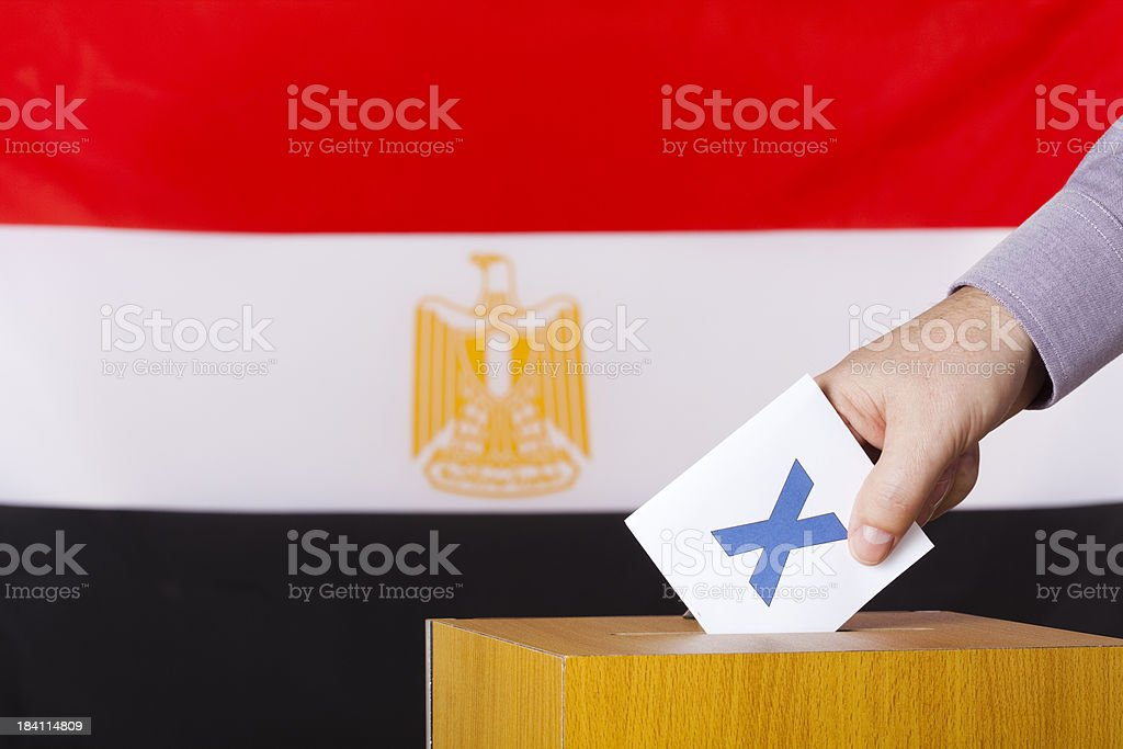 Egyptian voting royalty-free stock photo
