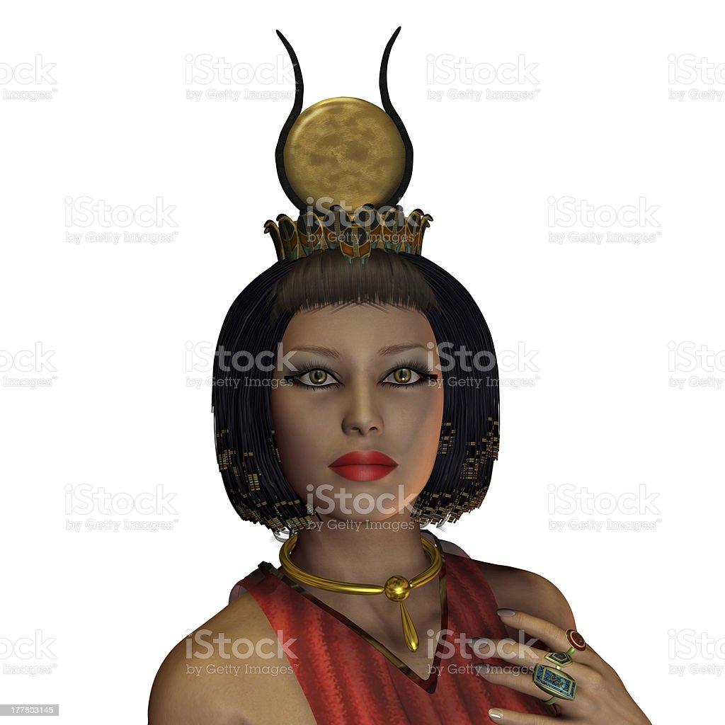 Egyptian Woman Crown stock photo