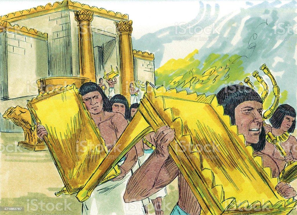 Egyptians Pillage Temple stock photo