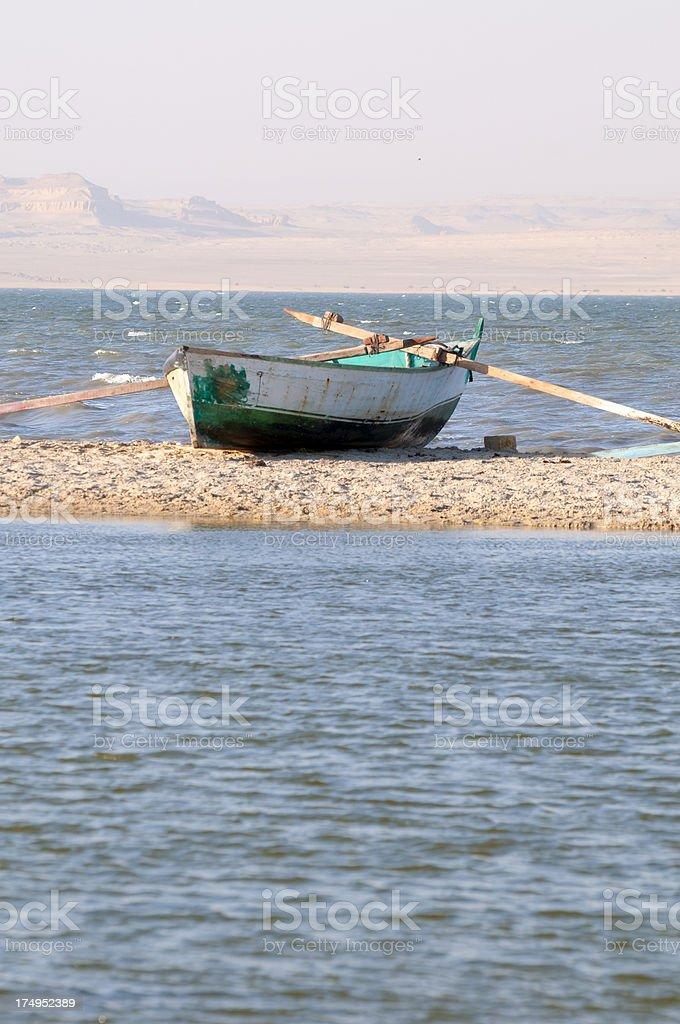 Egypt's Lake Qarun royalty-free stock photo