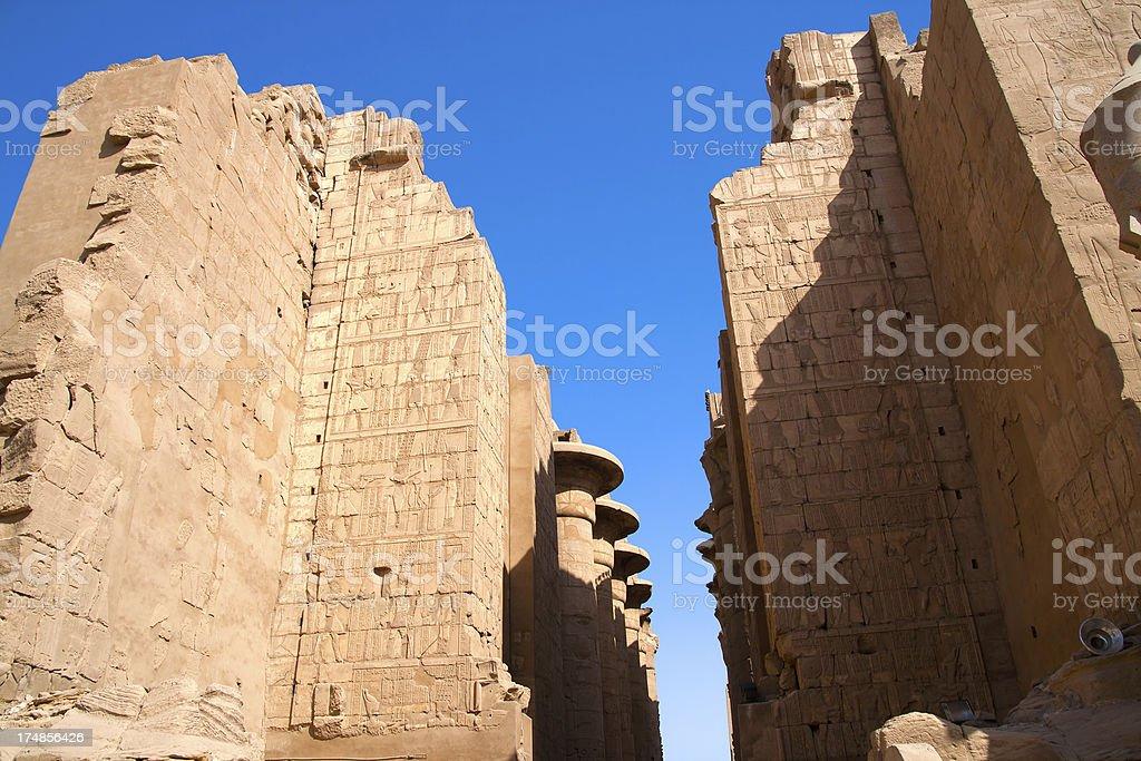 Egytian temple ruins royalty-free stock photo
