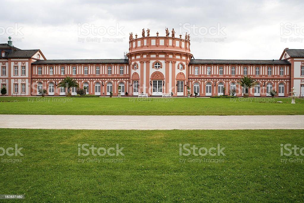 Ehemaliger Adelssitz Biebrich, Wiesbaden - back view stock photo