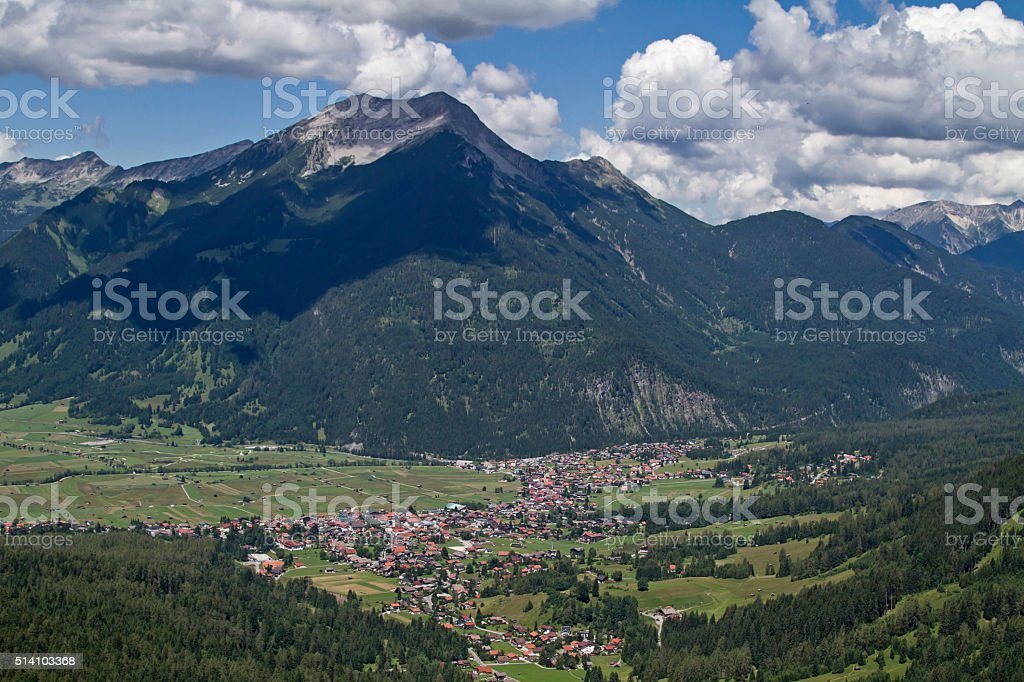 Ehrwald in Tirol stock photo
