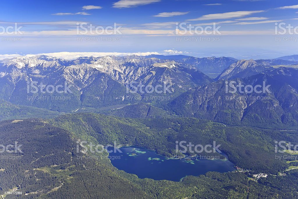 Eibsee lake of Germany royalty-free stock photo
