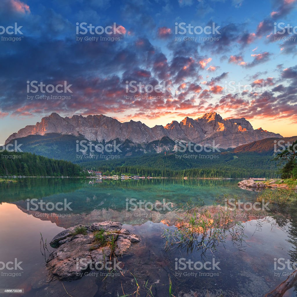 Eibsee stock photo