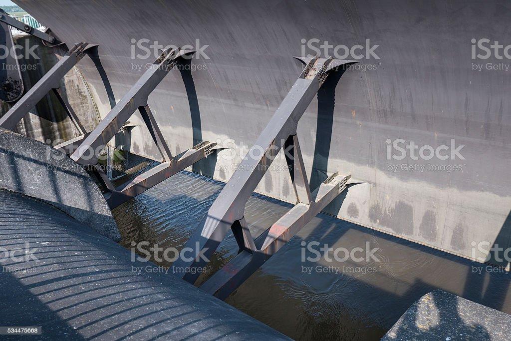 Eider Barrage - Eidersperrwerk, North Sea, Germany stock photo