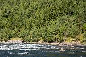 Eidfjord and rapid river in Norway