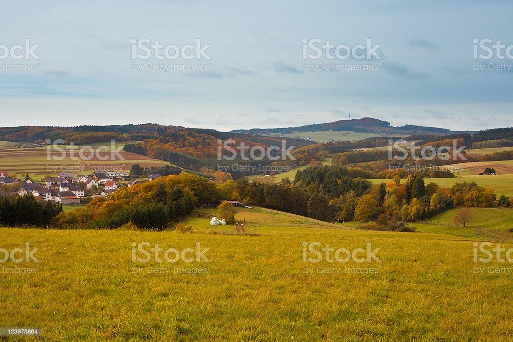 Eifel Landscape, Germany royalty-free stock photo