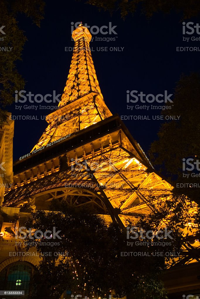 Eifel Tower replica in Las Vegas, USA stock photo