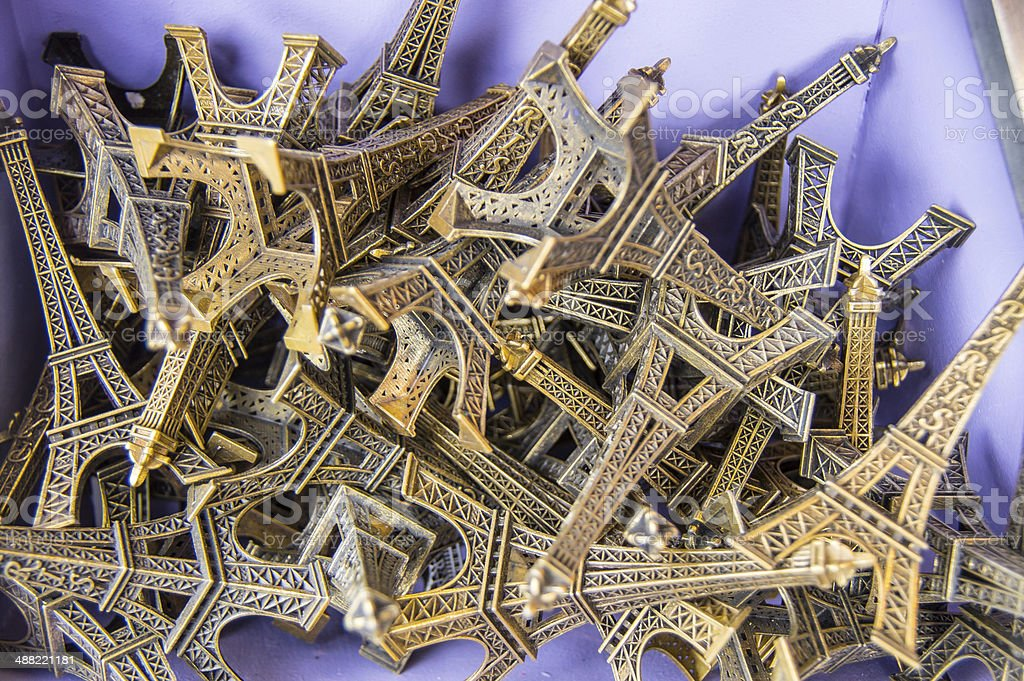 Eifell Tower Souvenirs stock photo