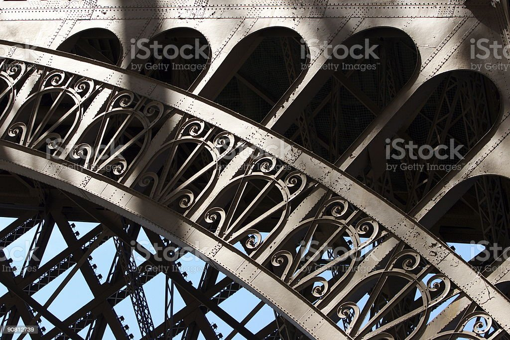 Eiffel arc structure royalty-free stock photo