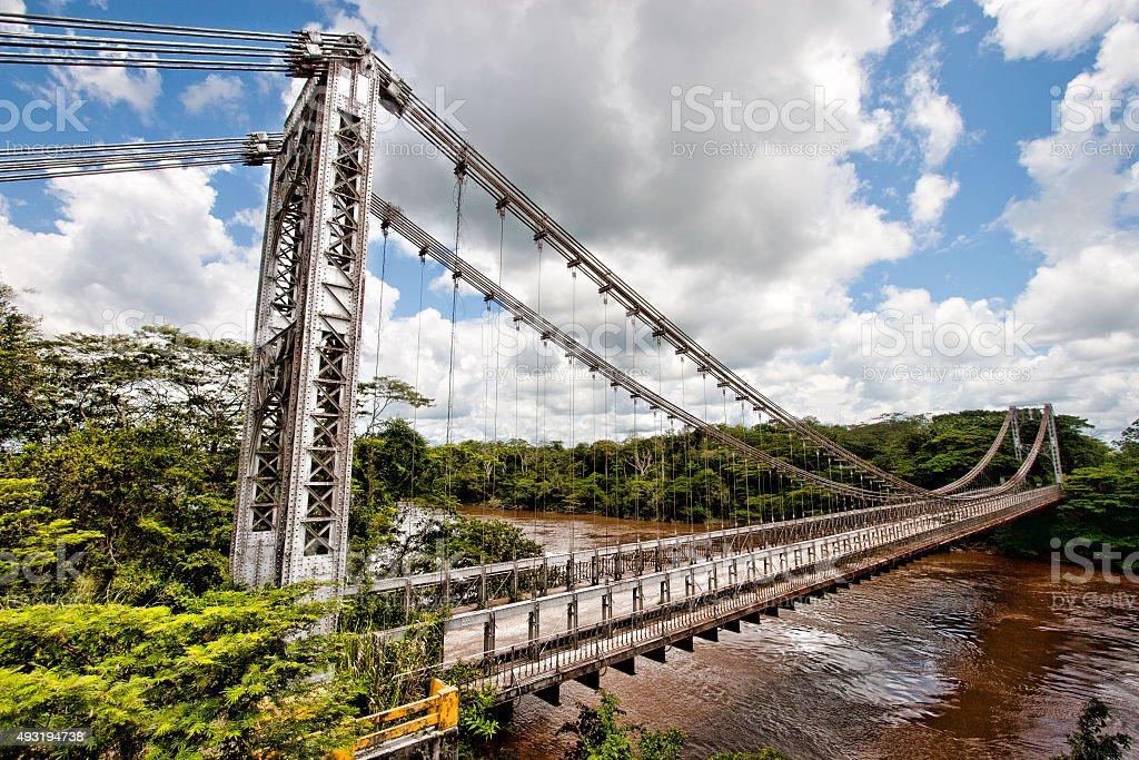 Eiffel Bridge Venezuela stock photo