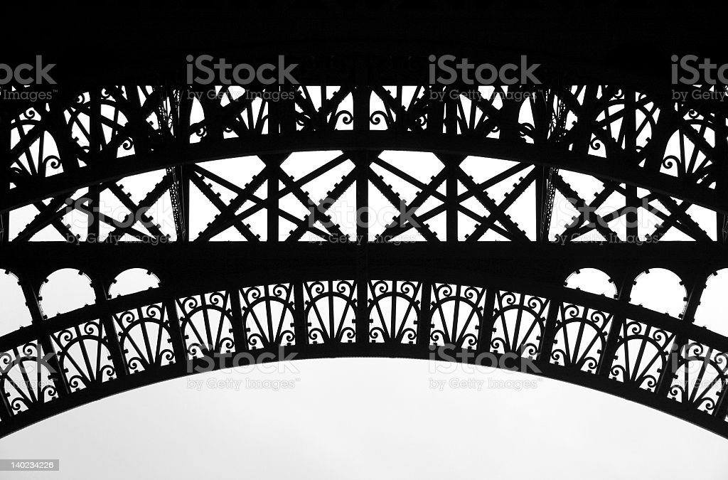 Eiffel frame 2 royalty-free stock photo