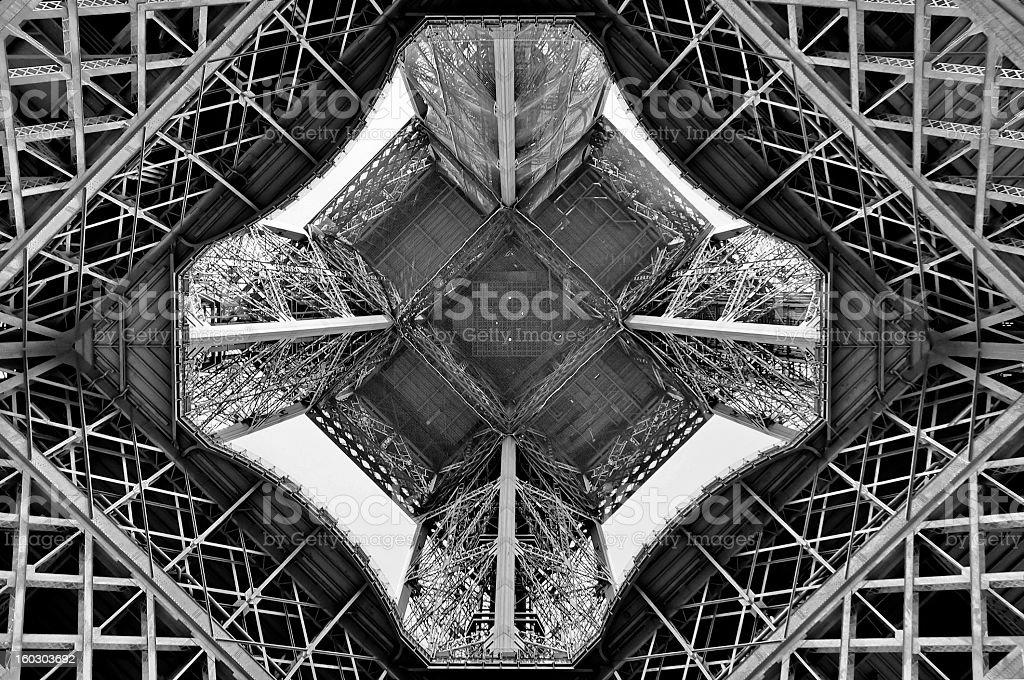 Eiffel from below royalty-free stock photo