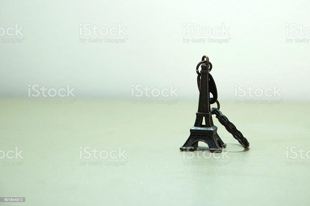 Eiffel key ring stock photo